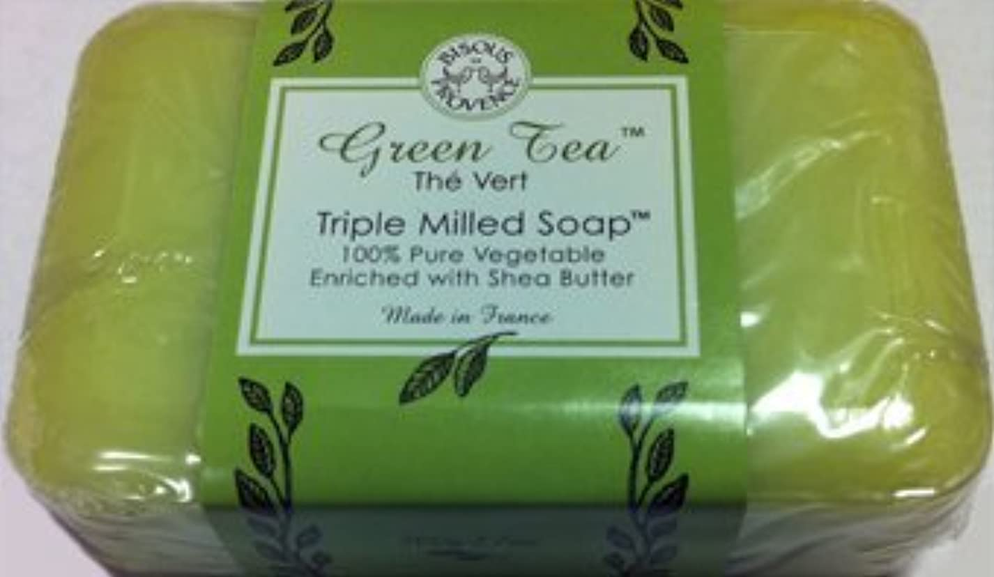 Green Tea The Vert Triple Milled Soap 100% Pure Vegetable Enriched with Shea Butter by Bisous Provence/Trader Joe's [並行輸入品]