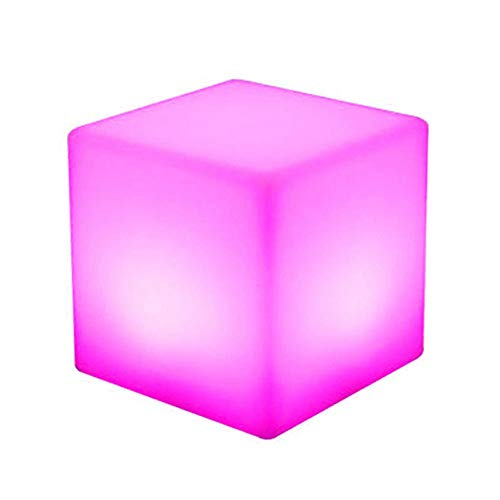 LED Cube Stool Luminous Chair Seat Light Summer Party Seating - End Table Ottoman 16 Color Changing Furniture RGB Colors 8 Dimmable Effects 4 Lighting Modes, Suitable for Garden Patio