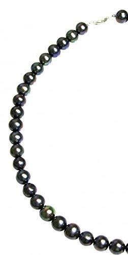Kette - Perlenkette - Halskette - Perlen - Tahiti - 925 Silber - 45 cm