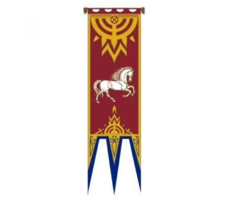 Herr der Ringe - Fahne - Das Banner von Rohan IV - 57x196 cm Exclusives Set