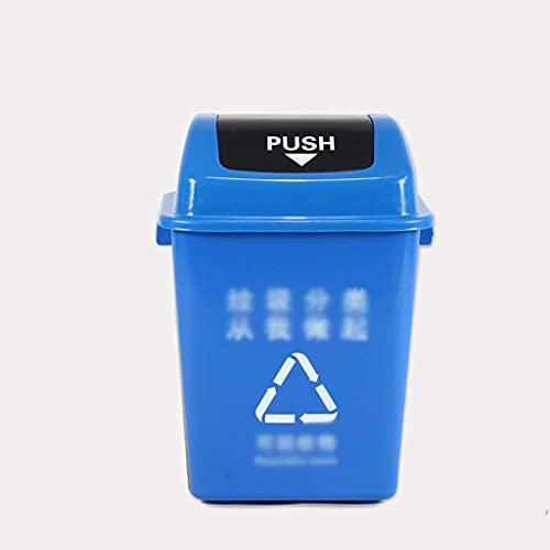 LSNLNN Papelera de Basura, Contenedor de Basura Al Aire Libre, Estación de Metro de la Escuela de Fábrica Reciclaje de Reciclaje Dustbins Barril de Basura para Uso Comercial Residencial Uso de Recicl