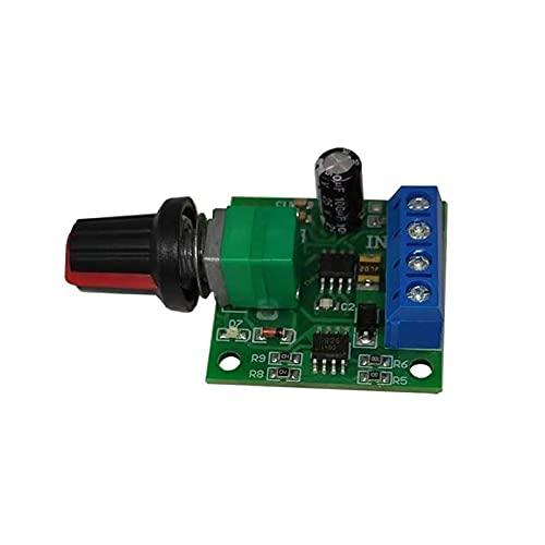 XMZZJJ Controlador de Velocidad del Motor, 1 PC, Interruptor de Control de Velocidad de bajo Voltaje, módulo de Controlador de Velocidad de Motor, módulo de accionamiento Ajustable (Size : A)