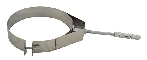Rohrschelle zur Wandbefestigung BASIC+ verstärkt, Edelstahl EW, verschiedene Durchmesser 100, 110, 120, 125, 130, 140, 150, 160, 180, 200, 220, 250 mm (100)
