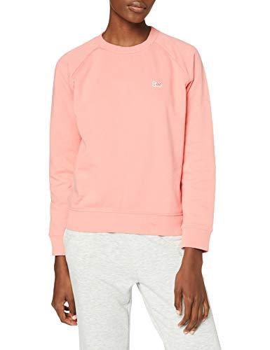 Lee Plain Crew Neck Sweatshirts, Rose, XS Femme
