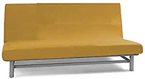 Biancaluna Copridivano Senza braccioli 2 posti Queen Genius 125 a 170 cm S070 Arancione