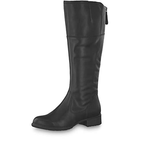 Tamaris Damen Stiefel 25508-23, Frauen KlassischeStiefel, leger Boots reißverschluss Damen Frauen weibliche Lady Ladies feminin,Black,39 EU / 5.5 UK