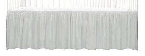 Tadpoles Dust Ruffle Crib Skirt, Grey