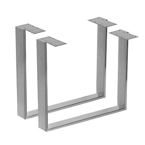 """Kufentischgestell Edelstahl gebürstet 1 Paar 90x70cm Modell """"Köln"""" Tischuntergestell Tischkufe Tischgestell"""