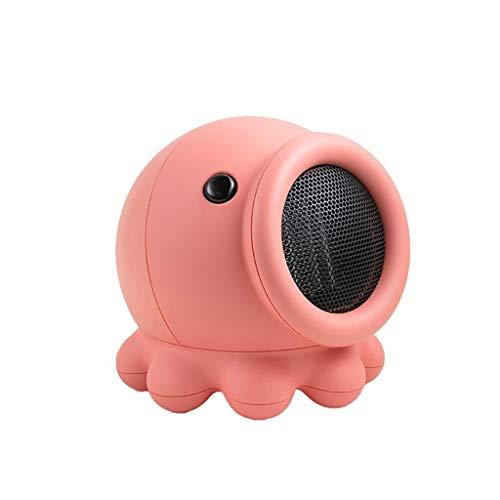 ASDFGH Heizradiator Personal Heizkörper Stehen Mini Schwenkbare Heater, Mehrere Sicherheitsschutz, automatische Abschaltung, Funktionsanzeige (Color : Pink)