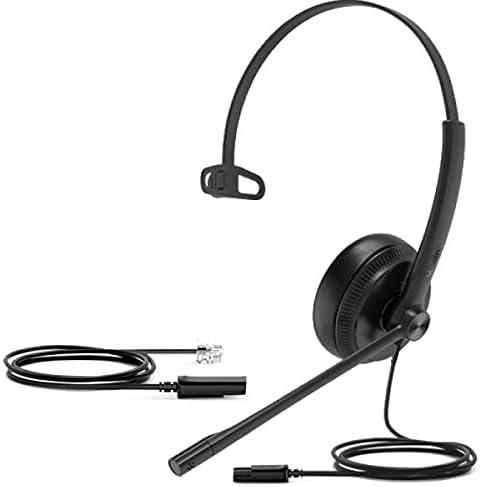 2021 Yealink YHS34 Mono Analog Wired lowest Headset - QD to 2021 RJ9 sale
