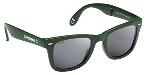 Cressi Taska Gafas de Sol, Unisex Adulto, Verde/Gris Oscuro, Talla Única