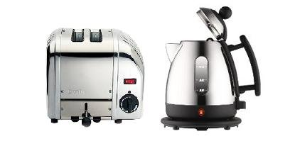 DUALIT 1 LITRE STAINLESS STEEL JUG KETTLE WITH BLACK TRIM (72200) & 2 SLICE VARIO STAINLESS STEEL TOASTER (20245) COMBINATION SET