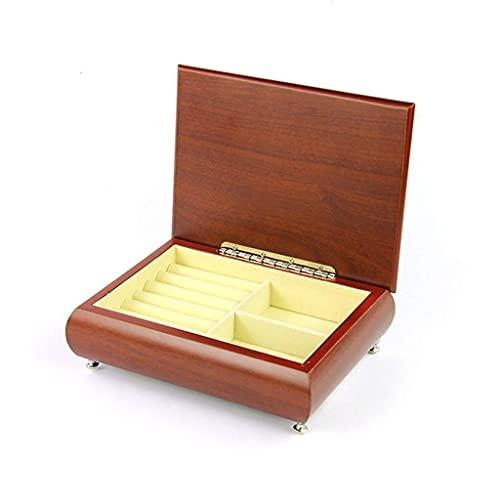 JIANGCJ Bella Caja de joyería Caja de joyería Caja de joyería de Madera Mini joyería Organizador de Caja para Pendientes Pulseras de Collar