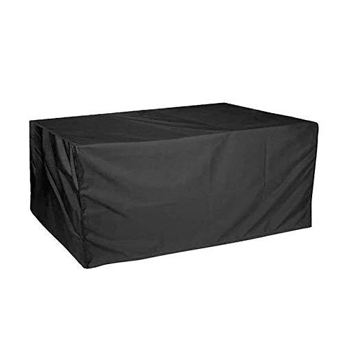 Monbedos Housse de protection pour meubles de jardin - Imperméable à l'eau et à la poussière - Tissu Oxford respirant - Noir - Dimensions : 123 x 123 x 74 cm