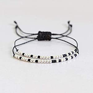 2x Morse Code Armband, I'll Be Waiting/I'll Be Back, Fernbeziehung Paar Armbänder, Partnergeschenk