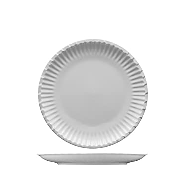 Fortessa Fortaluxe Food Truck Chic Paper Plate Design Salad Plate, 8-Inch, Set of 4