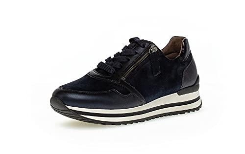 Gabor Donna Sneaker, Signora Basso,Soletta Removibile,Tempo Libero,Scarpa Bassa,Scarpe da Strada,Scarpe Allacciate,Blu (Dark-Blue/Ocean),38 EU / 5 UK