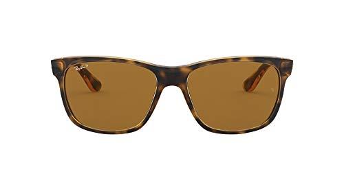 Ray-Ban Unisex RB4181 Sonnenbrille, Braun (Gestell: Havana, Gläser: Polarized Braun Klassisch 710/83), Large (Herstellergröße: 57)