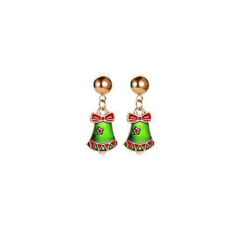 Janly Clearance Sale Pendientes para mujer, de aleación de Navidad, regalo de vacaciones, joyería para mujeres, niñas, joyería y relojes para Navidad, día de San Valentín (I)
