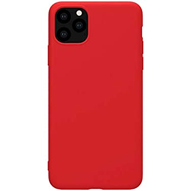 """Nillkin Case for Apple iPhone 11 Pro Max (6.5"""" Inch) Soft TPU Rubber Wrapped Protective Case Red Color"""