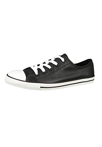Converse Mandriles 537107C Chuck Taylor All Star Dainty OX Negro Negro, Converse Schuhe Damen Slim Sizegroup Leiste 7 5/B:37.5