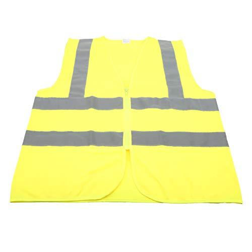 Chaleco Reflectante, Chaleco Reflectante de Ciclismo de poliéster Amarillo Fluorescente, Duradero para Correr, Caminar, Andar en Bicicleta al Aire Libre