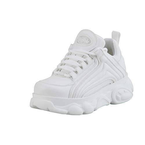 Buffalo Damen Low-Top Sneaker CLD Trace, Damen Halbschuhe,schnürschuhe,schnürer,Halbschuhe,straßenschuhe,Freizeitschuhe,Weiß (Offwhite),39 EU / 6 UK