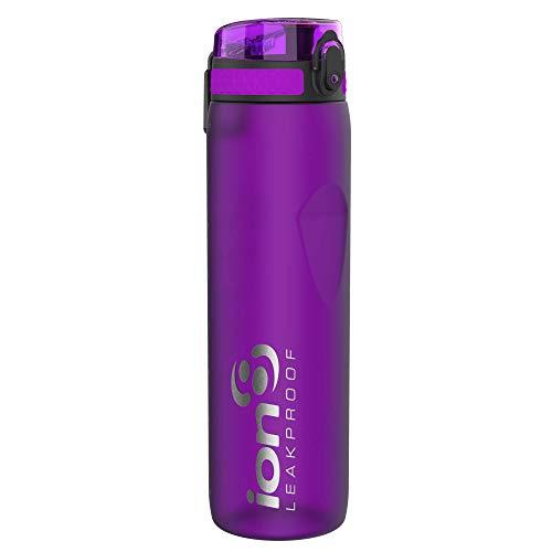 ion8 Auslaufsichere 1 Liter Sport Trinkflasche, BPA-frei, Lila