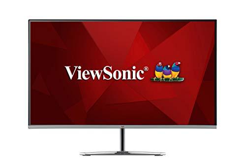 Viewsonic VX2776-SMH 68,6 cm (27 Zoll) Design Monitor (Full-HD, IPS-Panel, HDMI, Eye-Care, Eco-Mode, Lautsprecher, 3 Jahre Austauschservice) Silber-Schwarz