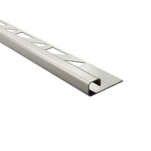 10x Quadrat-Profil Edelstahlschiene Fliesenprofil Fliesenschiene Edelstahl V2A L250cm 8mm glänzend