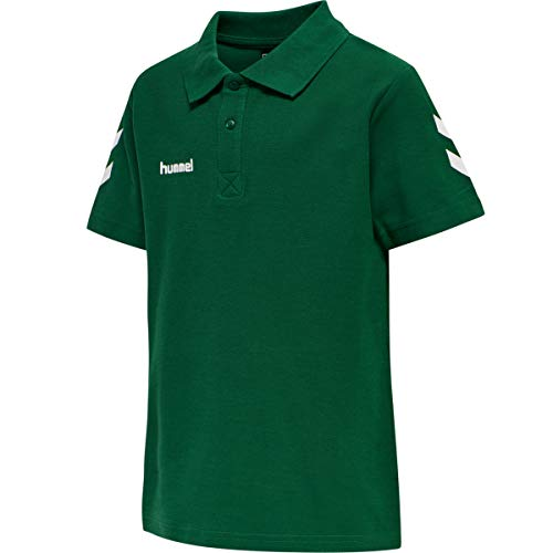 Hummel Kinder HMLGO KIDS COTTON POLO Hemd, Evergreen, 176