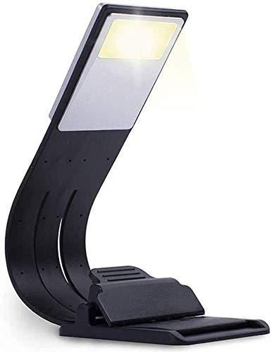Zeaih Libro Luz Brillo Ajustable, Pequeño Lectura Luces para Libros IN Bed por la Noche, LED con Clip Luces, Niños Luz de Libro para Ojo Protección - Magnético Succión Fijación Clip
