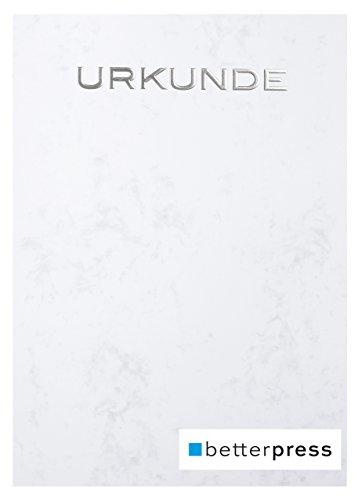 Urkunden Vordrucke geprägt Reliefprägung 200 g/m² din a4 10 Stück grau Betterpress (Silber)