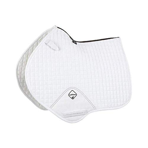 LeMieux Prosport Close Contact/Jumping Suede Square Saddle Pad - White - Large