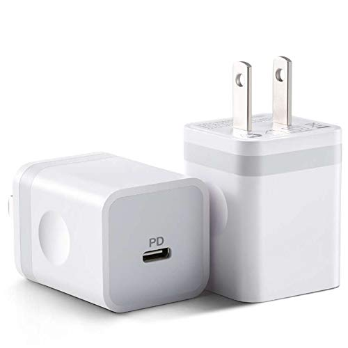 ARCCRA iPhone 12 Fast Charger, 20W USB C PD Charger Block Power Adapter for iPhone 12 Mini/12 Pro Max and More (2-Pack)