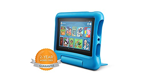 Fire 7 Kids tablet | 7' Display, 16 GB, Blue Kid-Proof Cas
