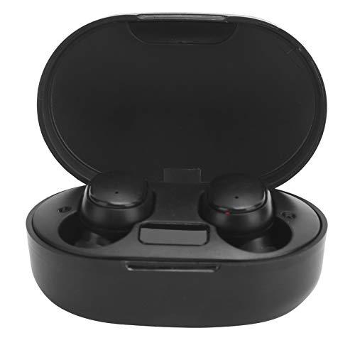 Yunseity Auriculares inalámbricos, Auriculares E6S TWS Bluetooth V5.0 con Caja de Carga, Auriculares Deportivos portátiles para teléfonos Inteligentes, Distancia de señal de 10 Metros, Negro