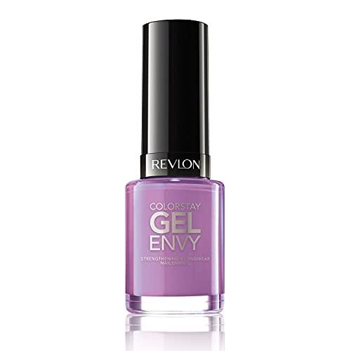 Revlon ColorStay Gel Envy Longwear Nail Polish, with Built-in Base Coat & Glossy Shine Finish, in Plum/Berry, 420 Winning Streak, 0.4 oz