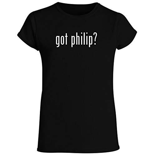 got philip? - Women's Crewneck Short Sleeve T-Shirt, Black, Small