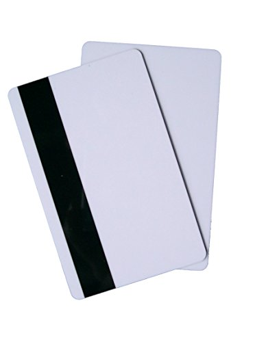 Magnetkarten HiCo 4000 Oe weiß 1/1 Plastikkarten Premium PVC (VE: 250 Stück) Hotelkarten Tankkarten