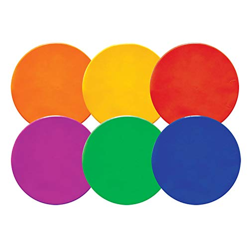 Champion Sports MSPSET Poly Spot Markers for Sports, Activities, and Social Distancing - 10-inch, Set of 6 - Multicolor