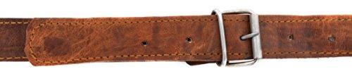 3157e IKZfL - Gusti Leder nature Correa de Cuero Tira de Cuero Repuesto para Bandolera Bricolaje Manualidades Piel de Cabra Auténtica…