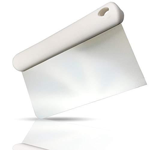 Kerafactum Teigschneider Teigschaber Teigspachtel zur Teigbearbeitung und als Teigabstecher Schlesinger aus Edelstahl 13 cm mit ABS Griff und Öse