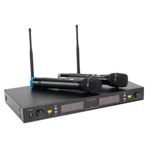 AMERICAN AUDIO WM-219 coppia microfoni wireless uhf per animatori, karaoke, ecc.