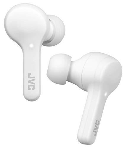 JVC Gumy True Auriculares inalámbricos HA-A7T (blanco), Bluetooth 5.0, resistencia al agua (IPX4), larga duración de la batería (hasta 15 horas)