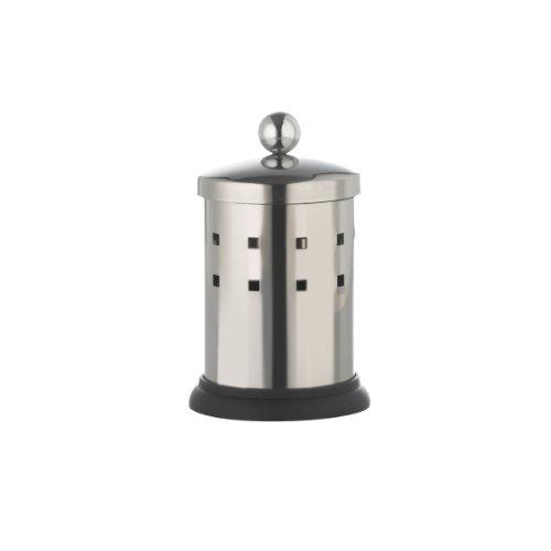 axenita Wattestäbchenbox 13 cm, langlebiger Wattestäbchenspender, Wattestäbchendose aus Edelstahl