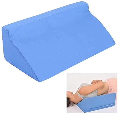 Almohada de cojín de cuña de reutilizable, asistencia para el hogar Almohadas de tratamiento de asistencia para el hogar Lavable Posicionamiento de memoria transpirable Cuerda Cuerpo para la espalda E