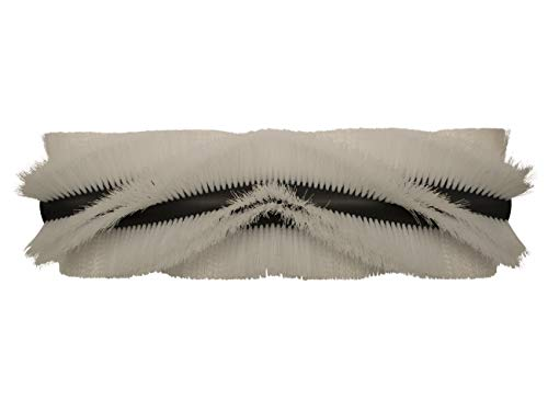 partmax® Bürstenwalze für Weidner Star 1-150 D, Poly 0,7 mm gewellt weiß, Walze, Walzenbürste, Kehrwalze