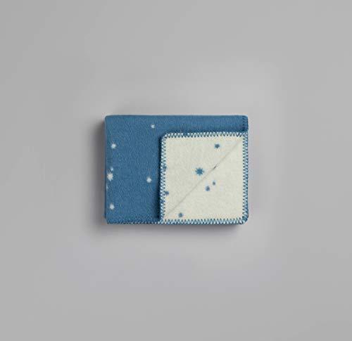 Røros Tweed Orion babydeken wollen deken | Knuffeldeken uit Noorse lamswol | Design van Elle Melle | Plafondafmetingen: 100x67 1203-B blauw