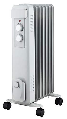 MAZDA SANBONZY10 - Radiateur mobile à bain dHuile - Gamme Bonzy - 1000 Watts - 3 vitesses de chauffe